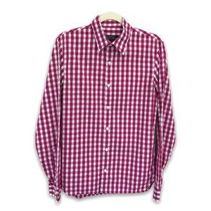 Club Monaco Pink Checked Button Up, S